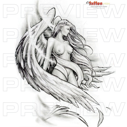 Dream Angel Tattoo Design