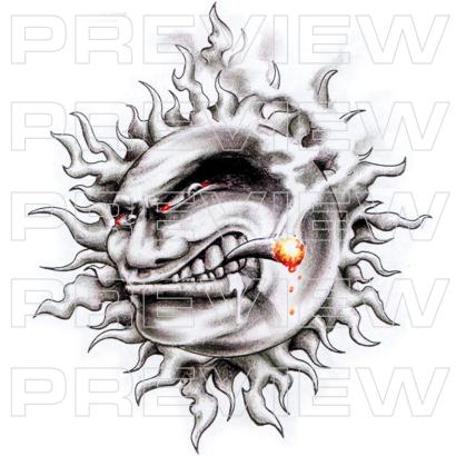 Blazing Sun Smoking Tattoo