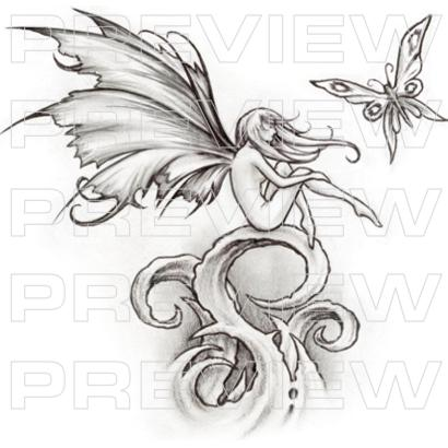 Cute Fairy Tattoo Design